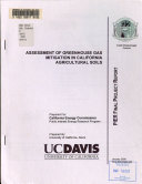Assessment of Greenhouse Gas Mitigation in California Agricultural Soils