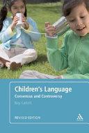 Children s Language  Revised Edition