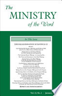 The Ministry Of The Word Vol 22 No 1