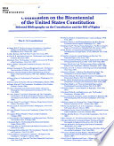 Selected Bibliography on the Constitution and the Bill of Rights Book PDF