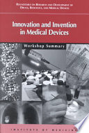 Innovation And Invention In Medical Devices Book PDF