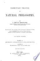 Elementary Treatise on Natural Philosophy: Mechanics, hydrostatics, and pneumatics
