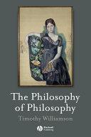 The Philosophy of Philosophy