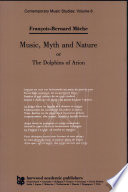 Music Myth And Nature Or The Dolphins Of Arion