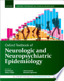 Oxford Textbook of Neurologic and Neuropsychiatric Epidemiology
