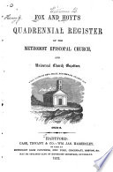 Fox and Hoyt's Quadrennial Register of the Methodist Episcopal Church