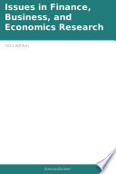 Issues in Finance  Business  and Economics Research  2011 Edition