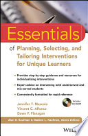 link to Essentials of planning, selecting, and tailoring interventions for unique learners in the TCC library catalog