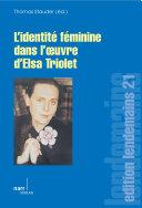 Pdf L' Identité féminine dans l' oeuvre d' Elsa Triolet Telecharger