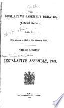 The Legislative Assembly Debates ...