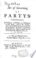The Art Of Governing By Partys