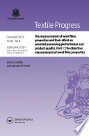 The Measurement of Wool Fibre Properties and their Effect on Worsted Processing Performance and Product Quality