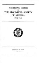 Proceedings Volume Of The Geological Society Of America For