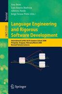 Language Engineering and Rigorous Software Development