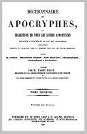 Dictionnaire des apocryphes 1