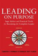 Leading on Purpose Pdf/ePub eBook