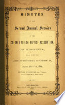 Minutes of the Second Annual Session of the Colored Shiloh Baptist Association of Virginia