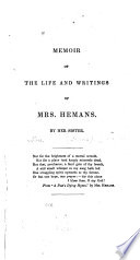 Memoir Of The Life And Writings Of Mrs Hemans