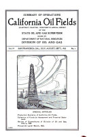 Summary of Operations; Annual Report of the State Oil and Gas Supervisor