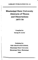 Abstracts of Theses and Dissertations
