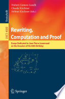 Rewriting  Computation and Proof Book
