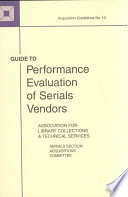 Guide to Performance Evaluation of Serials Vendors
