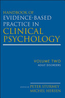 Handbook of Evidence Based Practice in Clinical Psychology  Adult Disorders