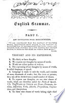 A Common school Grammar of the English Language Book