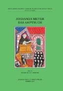 Johannes Meyer. Das Amptbuch. Ediz. inglese, latina e tedesca