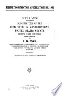 Military Construction Appropriations for 1960