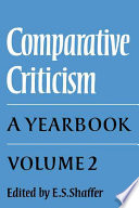 Comparative Criticism: Volume 2, Text and Reader