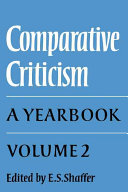 Comparative Criticism  Volume 2  Text and Reader