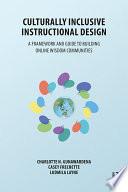 Culturally Inclusive Instructional Design