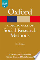 A Dictionary of Social Research Methods Book PDF