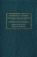 Pdf Diagnoses in Assyrian and Babylonian Medicine