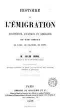 Histoire de l'émigration européenne, asiatique et africaine aux XIXe siècle