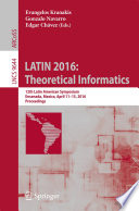 Latin 2016 Theoretical Informatics Book PDF