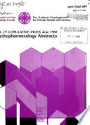 Psychopharmacology Abstracts Book