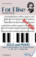 For Elise   All instruments and Piano  easy intermediate  key Dm