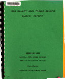 Salary and Fringe Benefit Survey Report