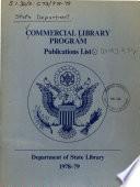 Commercial Library Program, Publications List