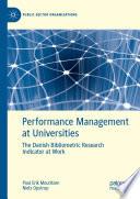 Performance Management at Universities