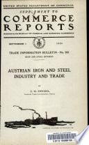 Austrian iron and steel industry and trade