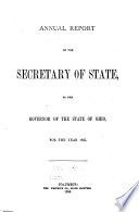 Annual Report Of The Secretary Of State To The Governor Of The State Of Ohio For The Year
