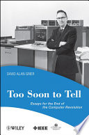 Too Soon To Tell Book