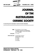 Journal of the Australasian Ceramic Society
