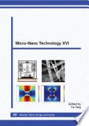 Micro Nano Technology XVI Book