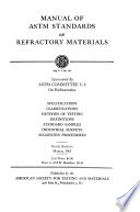 Manual of ASTM standards on refractory materials