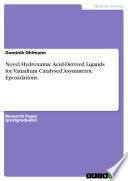 Novel Hydroxamic Acid Derived Ligands for Vanadium Catalysed Asymmetric Epoxidations