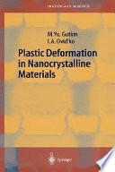 Plastic Deformation in Nanocrystalline Materials
